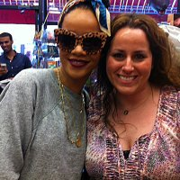 Rihanna shops at the Balloon Saloon