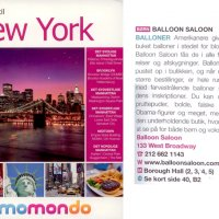 Balloon Saloon featured in New York, Momondo Danish guide book