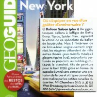 GEO GUIDE NEW YORK - French addition - Balloon Saloon listing