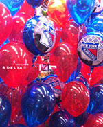 Delta honors Rangers as they enter Terminal at JFKn::Balloons in the News