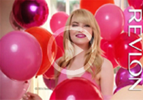 Emma Stone: Balloon Beauty for New Revlon Commercial