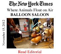 Toys And Floating Animals At The Balloon Saloon