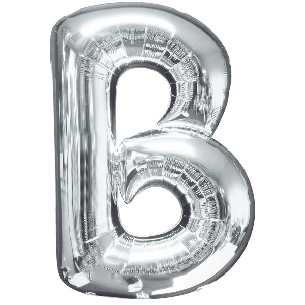 Silver Letter B: Megaloon Letters : Letter B