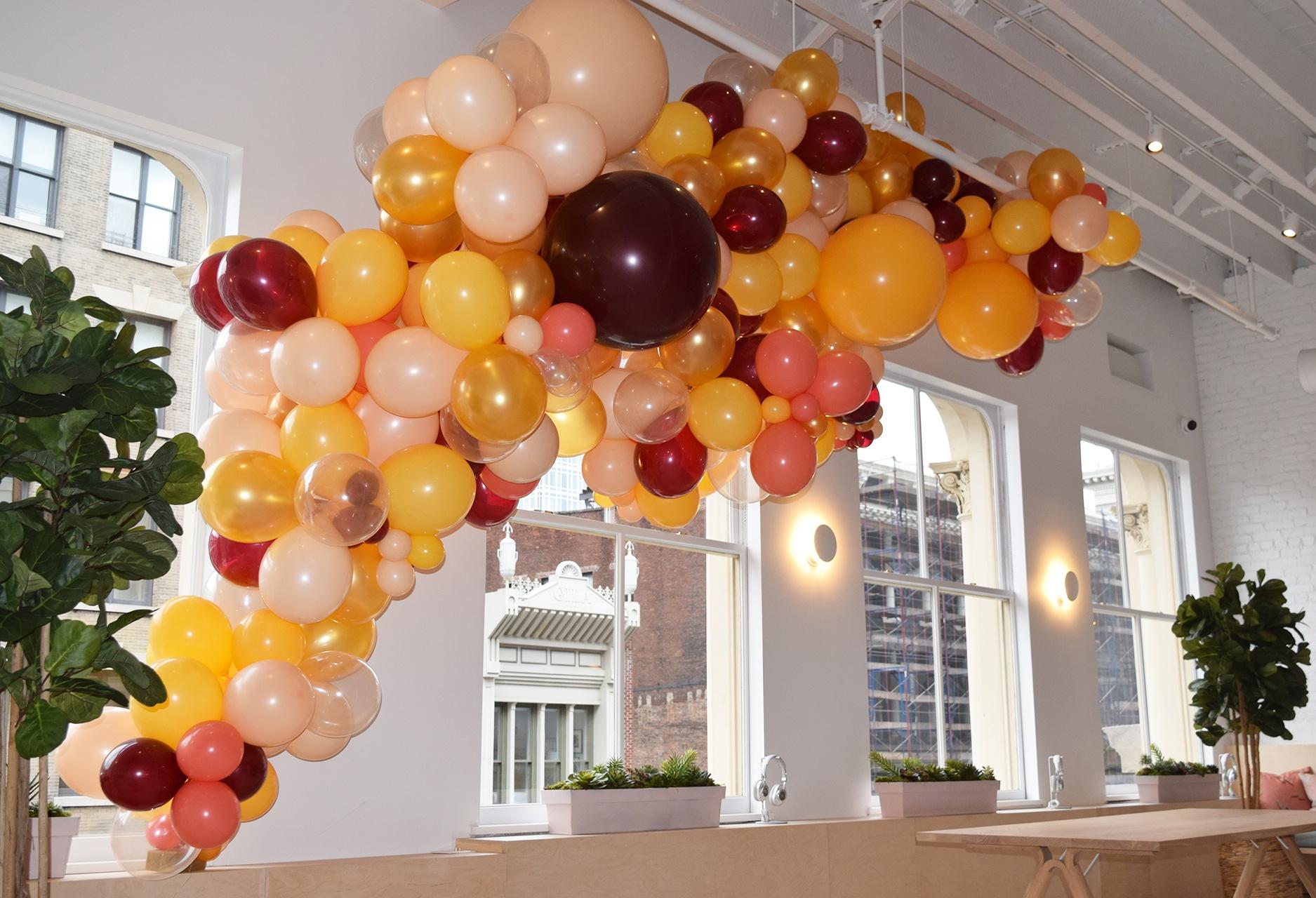 Organic Clouds Amp Sculptures Cascading Fall Balloon Garland