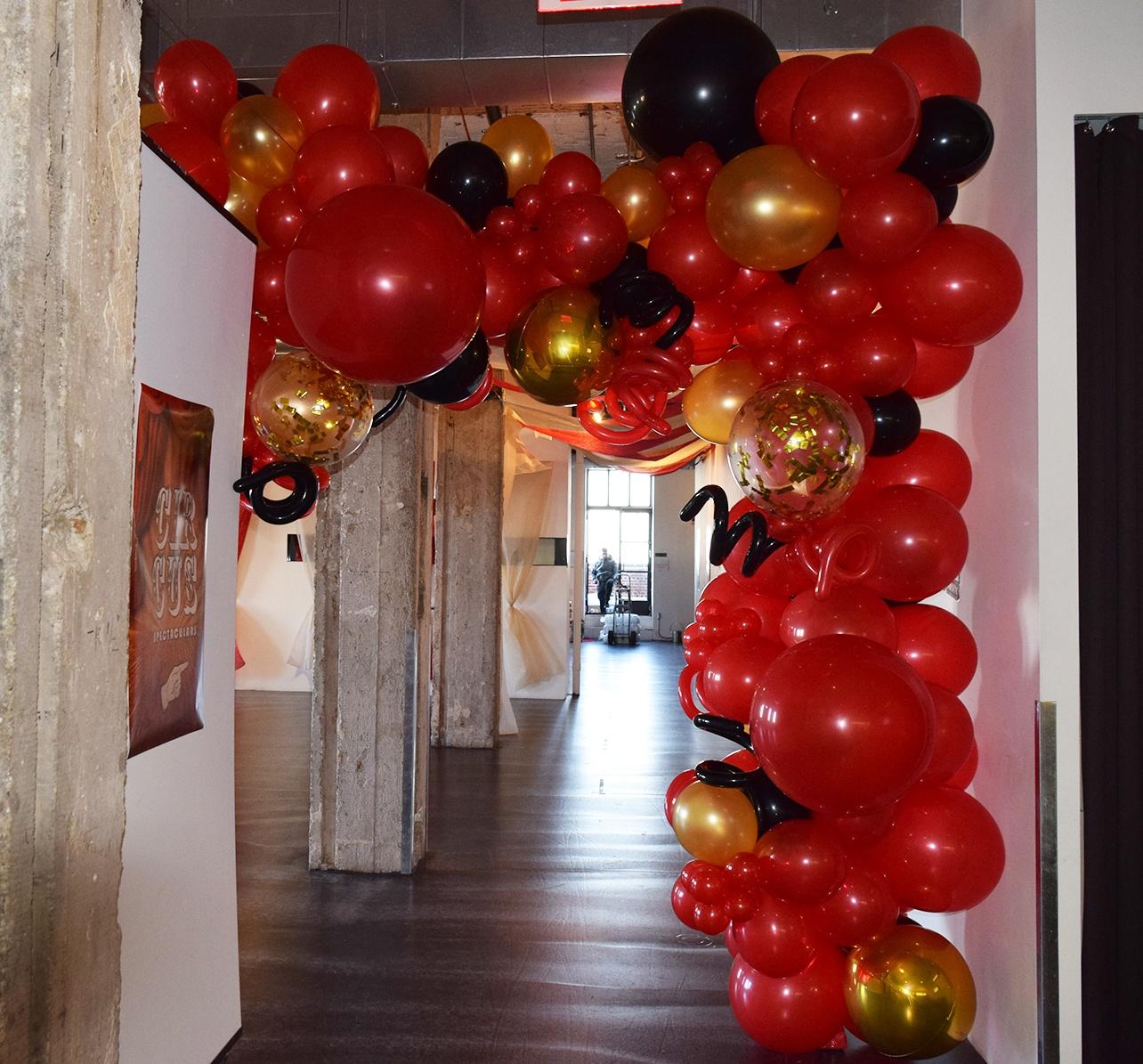 balloon archways   organic confetti funky garland