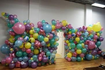 Summer Organic Balloon Wall