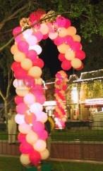 Custom balloon sculptures for Candy cane balloon sculpture