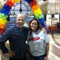 Balloon Saloon inspires Sweet Genius with Chef Ron BenIsrael with Rainbow Arch