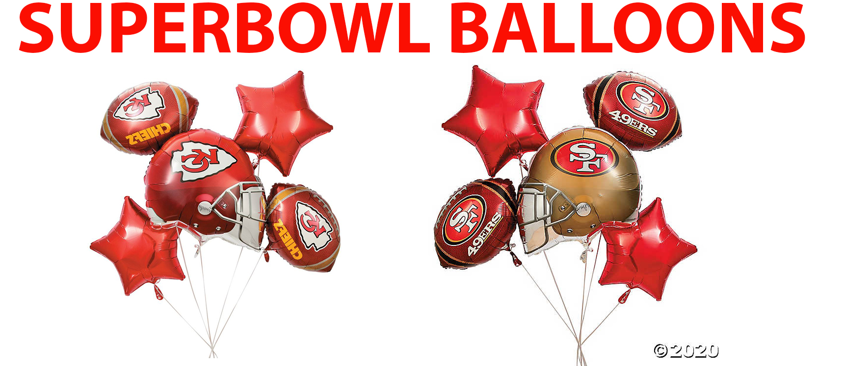SUPER BOWL BALLOONS