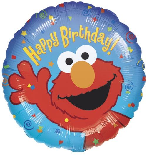Birthday Balloons 18in : Happy Birthday Elmo